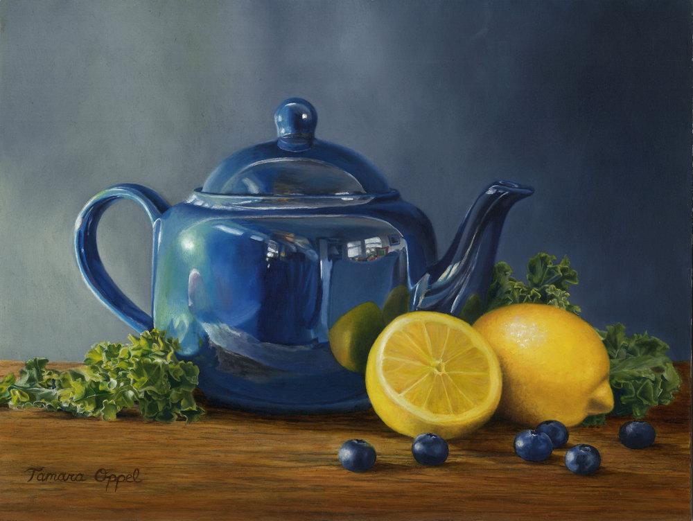 Tamara Oppel,Blue Teapot