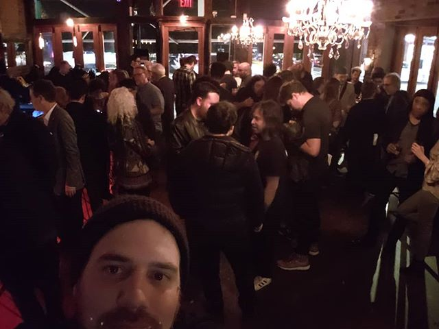 @eventideaudio afterparty. Hanging with @elecviola , @dougwimbish , @tapeopmag , jack Douglas,  Tony visconti, @erintonkon and more people than I can list. Wut? #AES