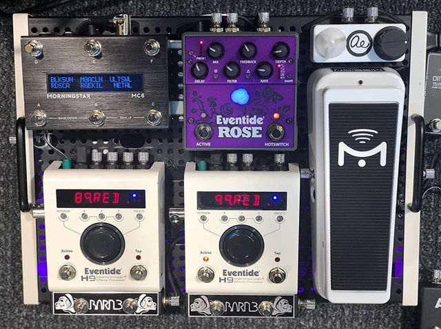 If you're at NAMM this week, make sure you swing by the @eventideaudio booth to check out all the great stuff they have to offer including the new Rose pedal! #eventide #barn3 #OX9