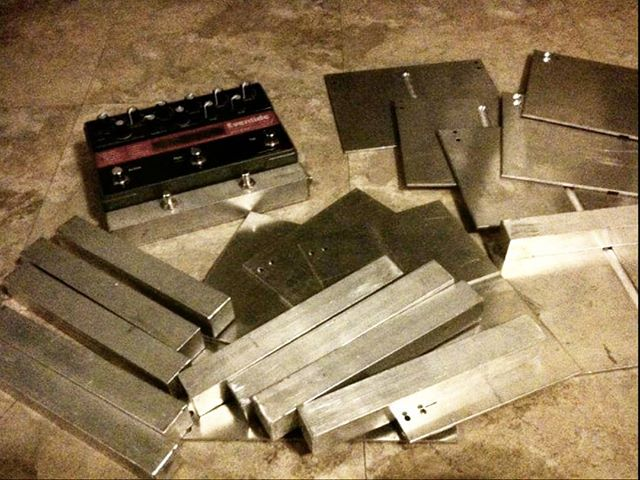 7 years ago today I picked up some metal parts from a machinist friend of mine to build the first OX pedals for myself, Tom and Garrett. We weren't trying to start a business, we just wanted smaller aux switches for our Factor pedals. What a wild ride. #tbt