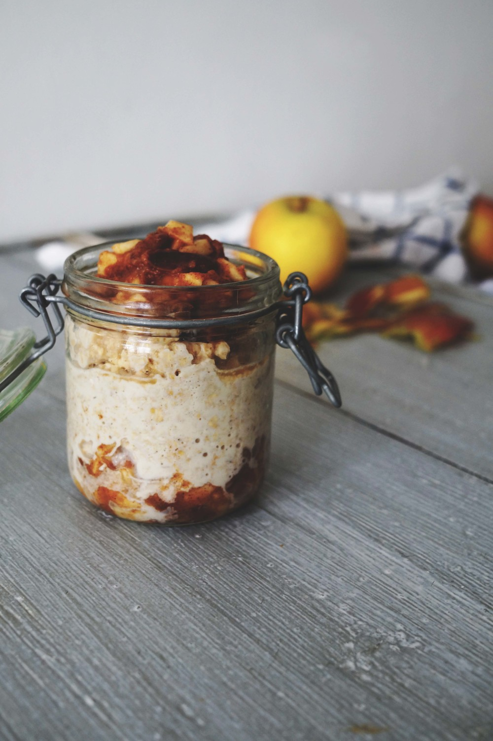 Overnight oats met appel & kaneel