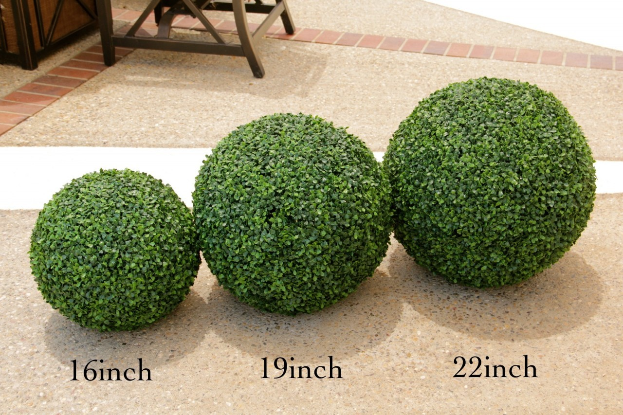 Charmant Artificial Outdoor UV Boxwood Balls 19inch (Sold As Pair)