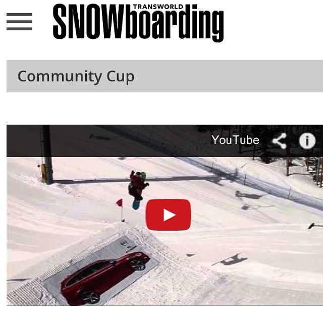 #communitycup2014 Highlights VIDEO @twsnow www.twsnow.com/communitycupLink in Profile... #volvo #gopro #keystonea51