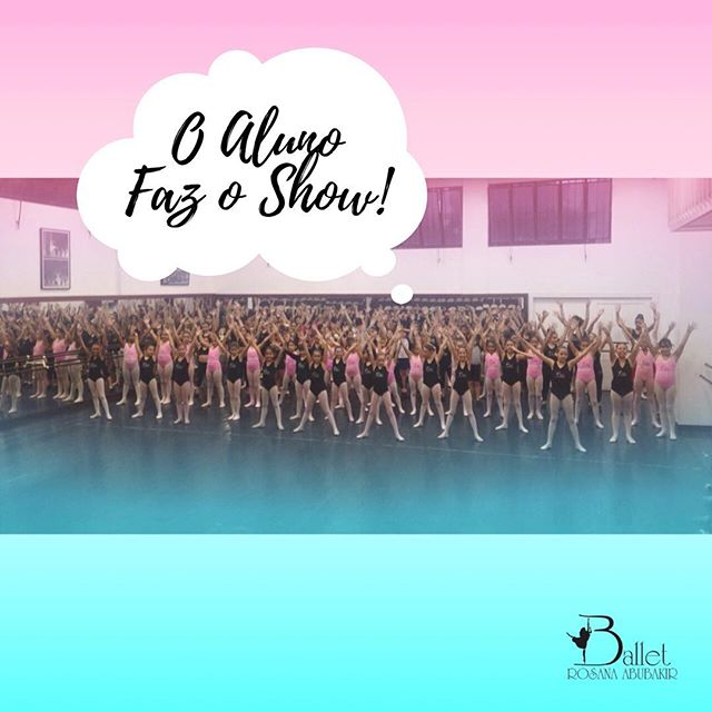 """Setembro é o mês da solidariedade no Ballet Rosana Abubakir. Dia primeiro tem """"O Aluno Faz O Show"""", espetáculo beneficente anual produzido totalmente pelas alunas da escola. Uma campanha de amor em prol das instituições de caridade de nossa cidade! Não perde! Os alunos estão se esmerando nos ensaios! #alunofazoshow #rosanaabubakir #balletrosanaabubakir #BailarinaBRA #BemAssimBRA #mesdasolidariedadeBRA"""
