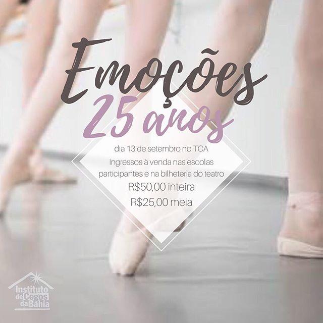 É amanhã! Corre pra comprar o seu ingresso! Todo o dinheiro arrecadado é revertido para o Instituto de cegos da Bahia! Vai ser lindo, você não pode perder! #rosanaabubakir #balletrosanaabubakir #bailarinaBRA #emocoes #emoções25anos #institutodecegosdabahia