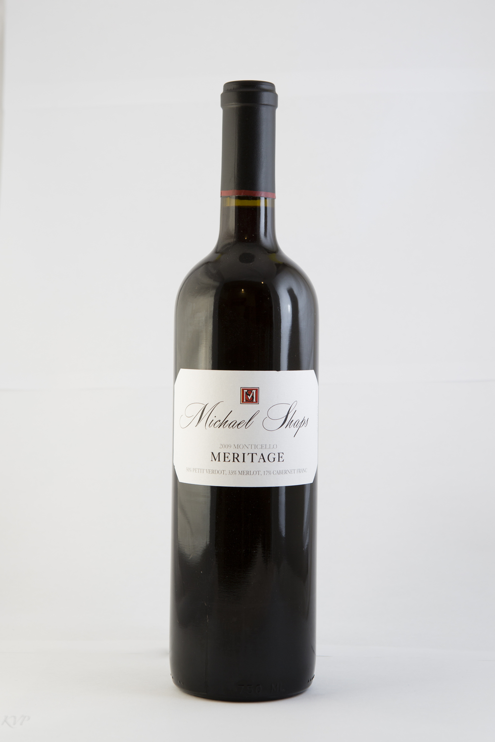 Michael Shaps Meritage 2012 $40 This vintage of Meritage is anchored in Merlot, complimented by Cabernet Sauvignon, Petit Verdot, and Cabernet Franc. The goal is always to produce a concentrated and deep wine, highly complex in both aroma and flavor, with the capacity to age for ten years or more. The blend changes with each vintage as we pull from the most successful lots to achieve this goal. It is aged for two years in all French oak, 50% of which is new.