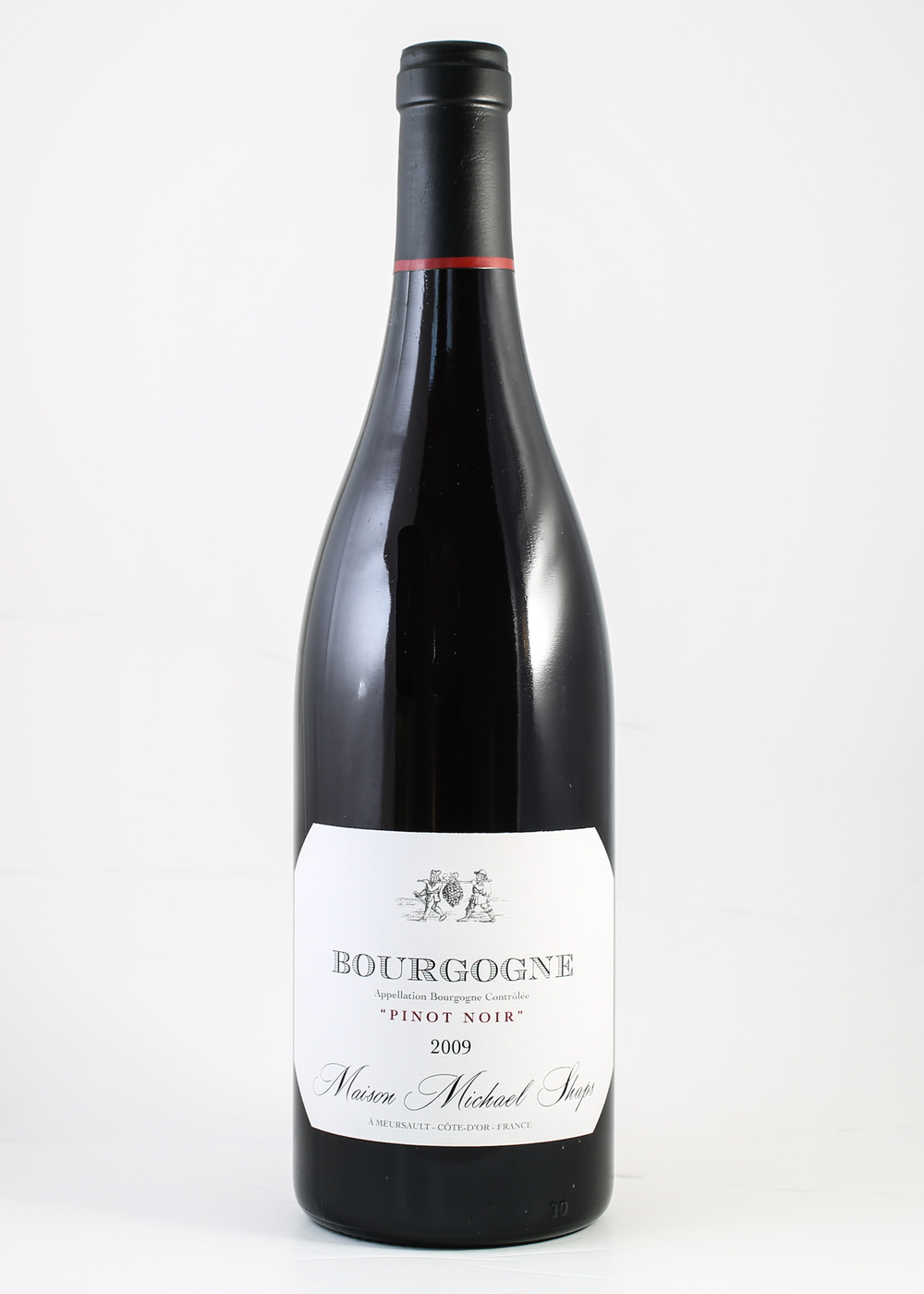 Maison Shaps 2014 Bourgogne Pinot Noir $24 Our Pinot Noir is grown at two different sites in the Haute Cote de Beaune.  Both sites provide fresh red fruit notes and moderate structure.  We ferment the Pinot to full dryness on the skins with extended post fermentation maceration. The wine is aged in neutral oak for nine months prior to bottling.  We look to bring out bright red fruits with moderate tannins and to produce an easy approachable wine.