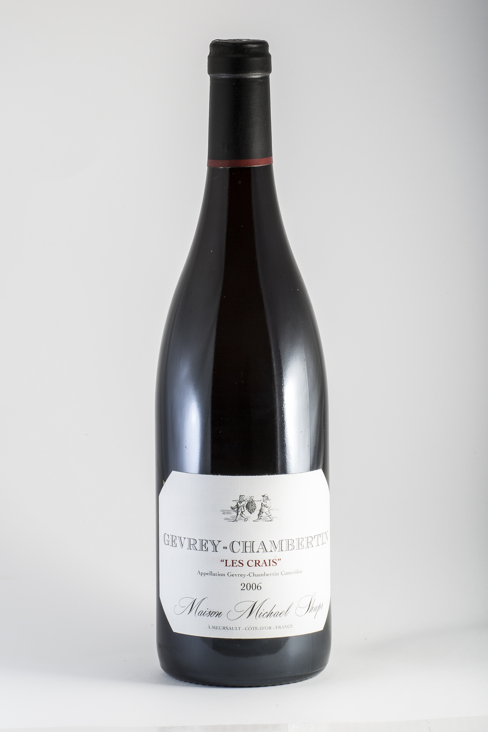 Maison Shaps 2014 Gevrey Chambertin $60 Our vineyard site, Les Crais is situated in the plain just next to the route national. The limestone clay soils and old vines produce a pinot noir that has a unique and distinctive character. This is Burgundian terrior at its best.  This site produces a Pinot Noir with deep earth tones and dark red fruits.  The elegant palate structure is highlighted by soft tannins that allow the elegance to prevail over time.