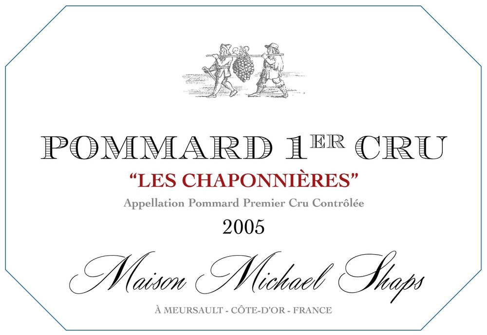 Maison Shaps 2005 Pommard 1er Cru Les Chaponnières $75 The site, Vaumuriens – Haute, is known for having a deeply concentrated structure with big aggressive tannins and bold acidity, we think that our Pommard exhibits the true essence of this great appellation.  We balance out the wine with 30-50% new oak in each vintage to help build weight and balance and structure the wine for long-term aging.