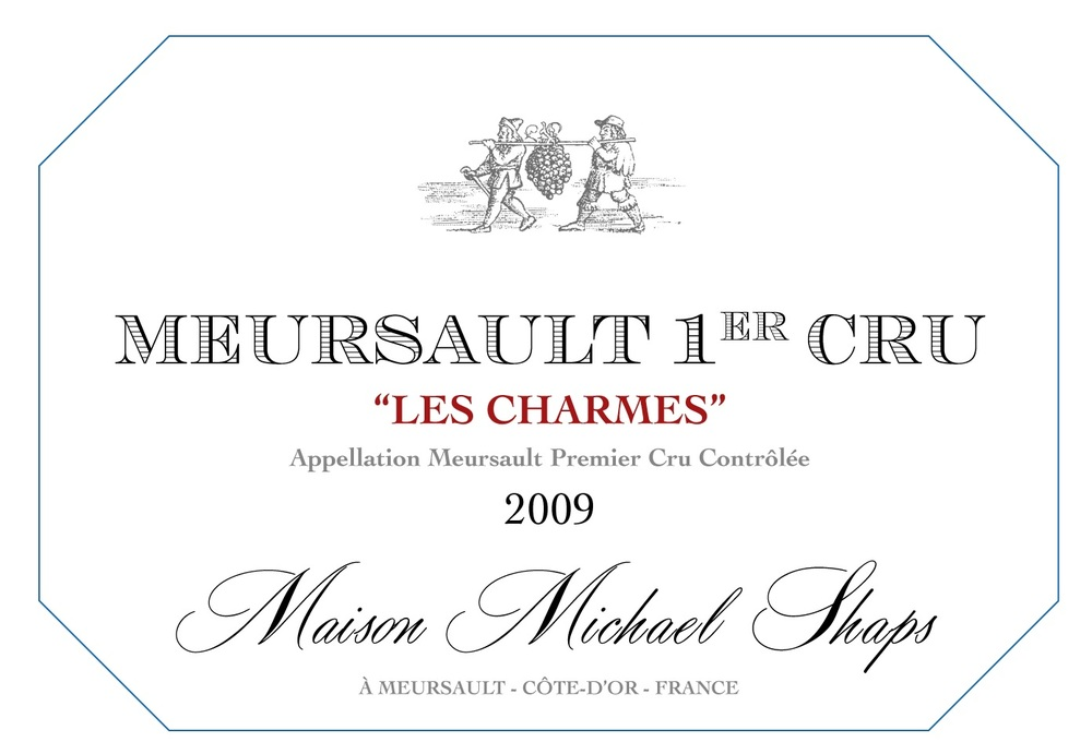 Maison Shaps 2009 Meursault 1er Cru Les Charmes $75 A very limited production from one of the most famous sites in Meursault.  Les Charmes is barrel fermented with 50% new oak to balance the weight and viscosity. The viscosity and oily characteristics of this wine are intertwined with mineral notes. The complex aromas and flavors are unique and produce a wine that needs five years to developing in the bottle.