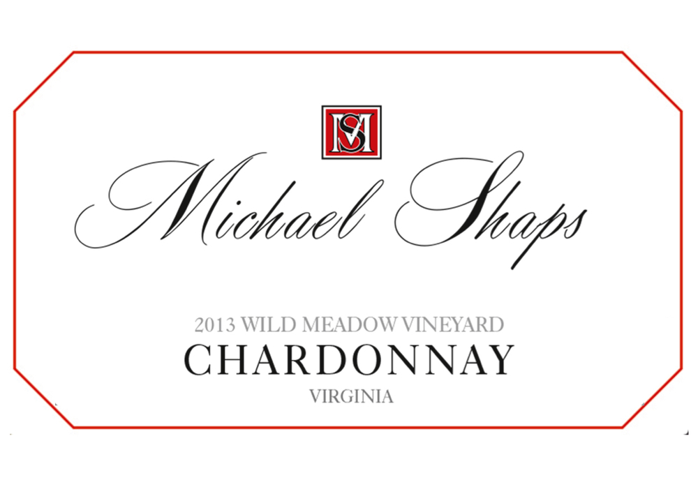 Michael Shaps 2013 Chardonnay $26 Made with grapes from the Wild Meadow vineyard in Loudon County where the cooler climate allows for fully ripe grapes that retain their acidity. This wine undergoes native primary and malolactic fermentation in barrel, and it is aged for 11 months in 100% French oak, 33% new, with twice weekly battonage (lees stirring) during the partial malolactic fermentation. The result is a wine with richness, weight, and length balanced by the acidity. It's structure gives it a long life expectancy, and it develops additional layers, texture and flavor as it rests in bottle.