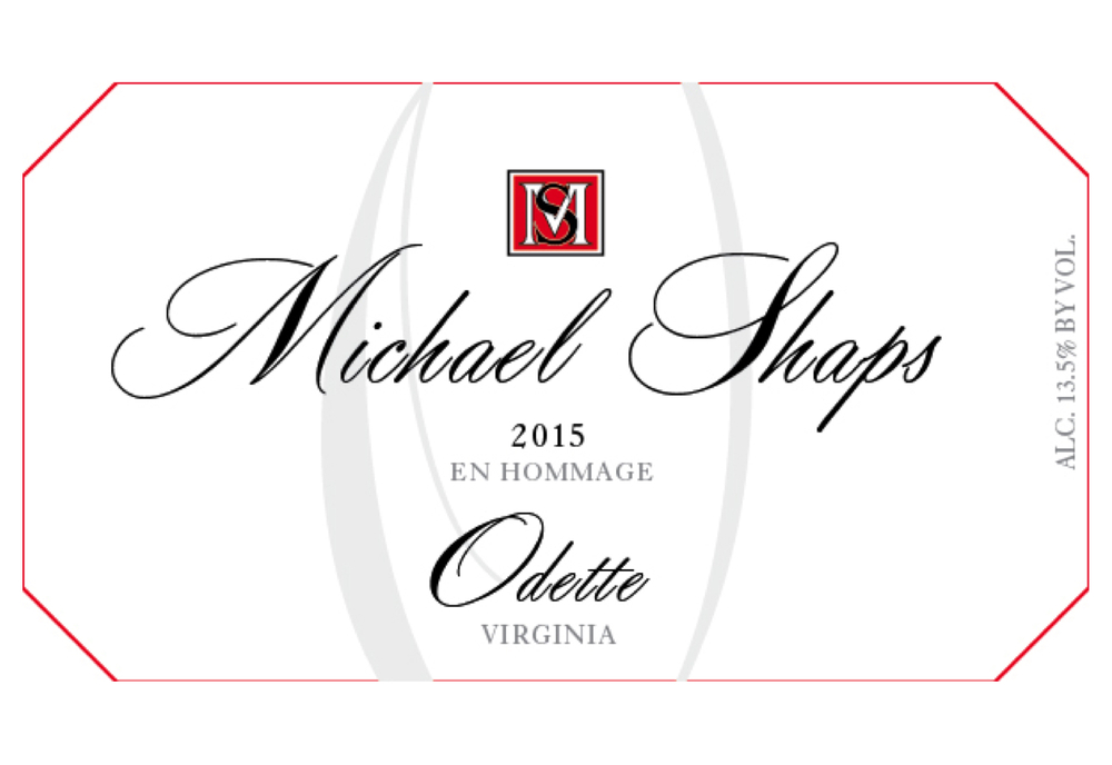 Michael Shaps 2015 Odette $28 A blend of Petit Manseng, Muscat, Riesling, Chardonnay, and Viognier fermented in stainless steel tanks and a variety of older French oak barrels. Finished dry, it is subtle and structured when young and starts to truly blossom aromatically and texturally after a year in bottle. It shows ripe fruit, honey and flowers on its medium bodied, persistent frame. This wine is named in honor of Michael's mother, who was a talented artist and the inspiration for this unique blend.