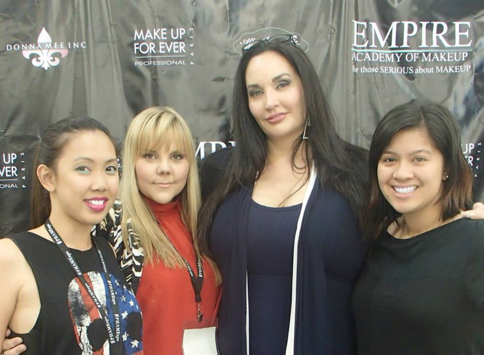 Donna at PHAMExpo Los Angeles with three of her Aussie graduates, Cindy Tran, Jennifer Ellis and Crystal Casas