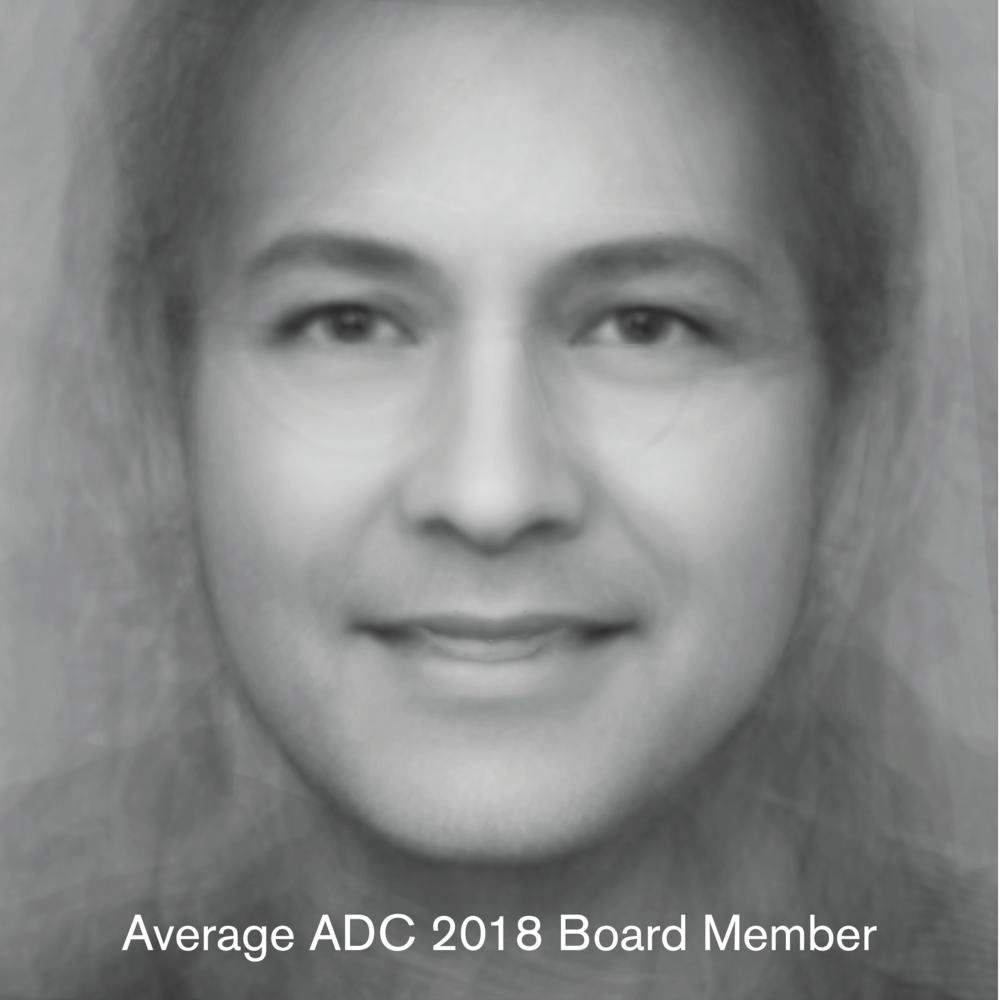 The source for this ADC Board of Directors / International Board of Directors image was pulled from http://adcglobal.org on October of 2018. It uses 38 front facing images of the board.