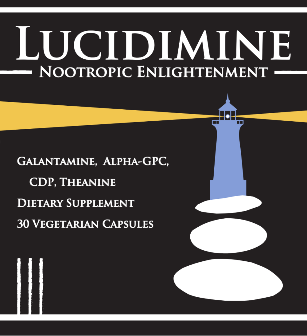Lucidimine - 50mg CDP, 50mg GPC, 200mg l-Theanine, 6mg Galantamine