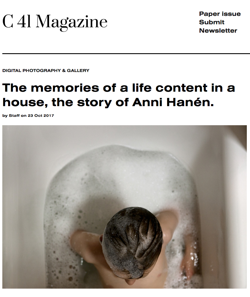 C 41 Magazine - The memories of alife content in a house, the story of Anni Hanén