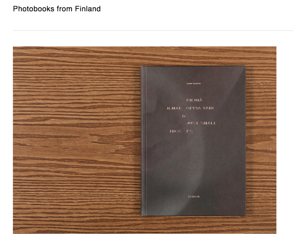 Photobooks from finland -