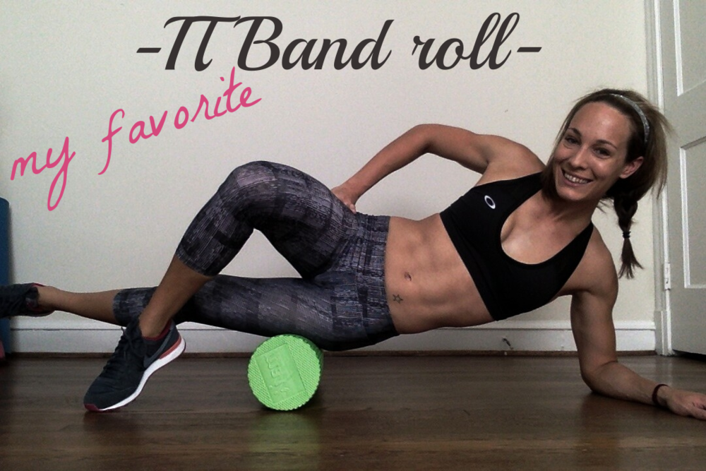 With foam roller placed under your hip roll your body forward until the roll reaches your knee. Then roll back and forth.  To increase intensity, you can place leg on the top your other leg instead of bracing it on the floor.