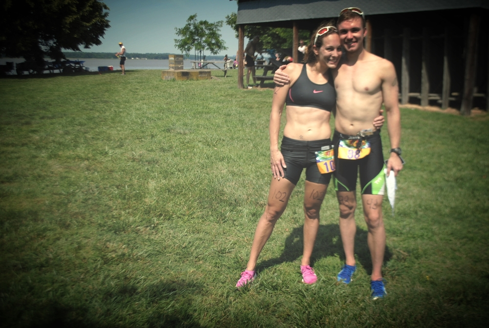 My first triathlon race with my biggest inspiration, love and the best friend that makes me happy & strong.