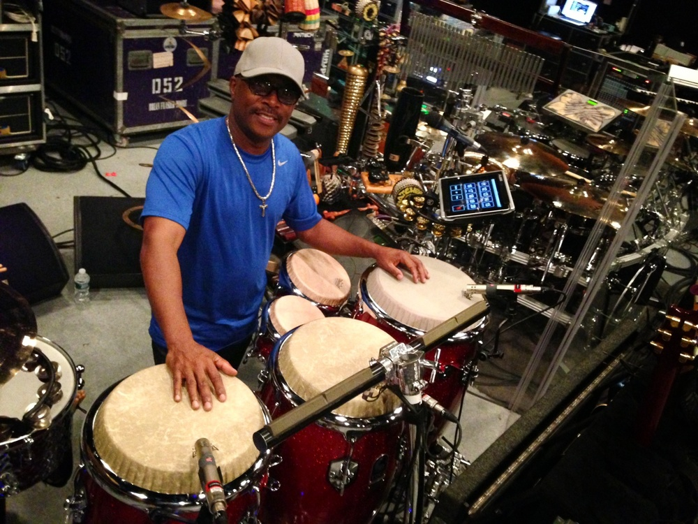 Terry Santiel, percussionist extraordinaire.  Check out his Instagram.