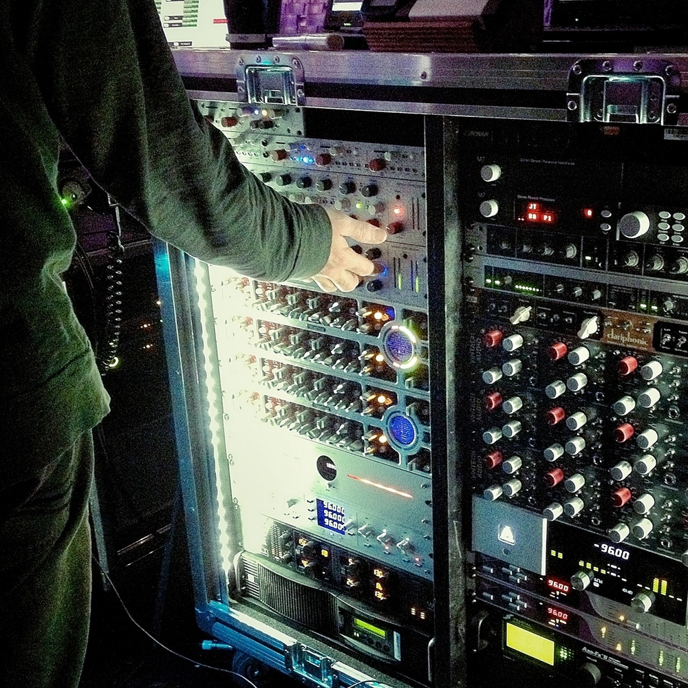 Andy's beautiful, delicious rack of outboard gear.