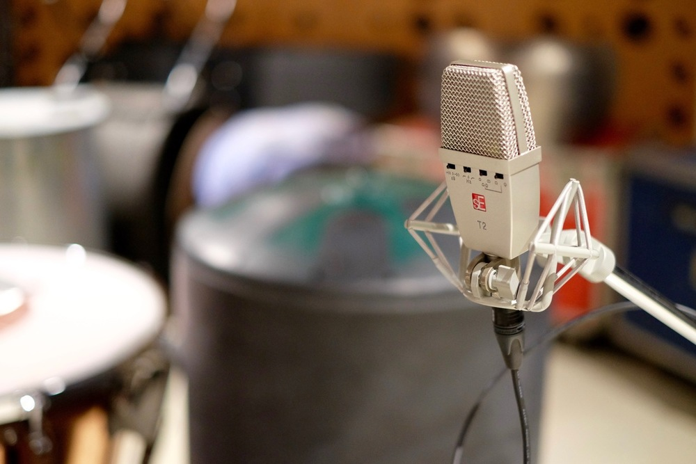 The T2 on a  Ghostbusters percussion session.