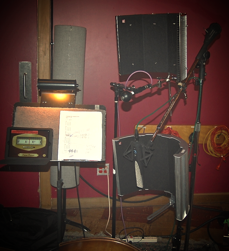 An RF Pro, RF Space, and RNR1 set up for guitar recording on an Alison Krauss & Union Station session.