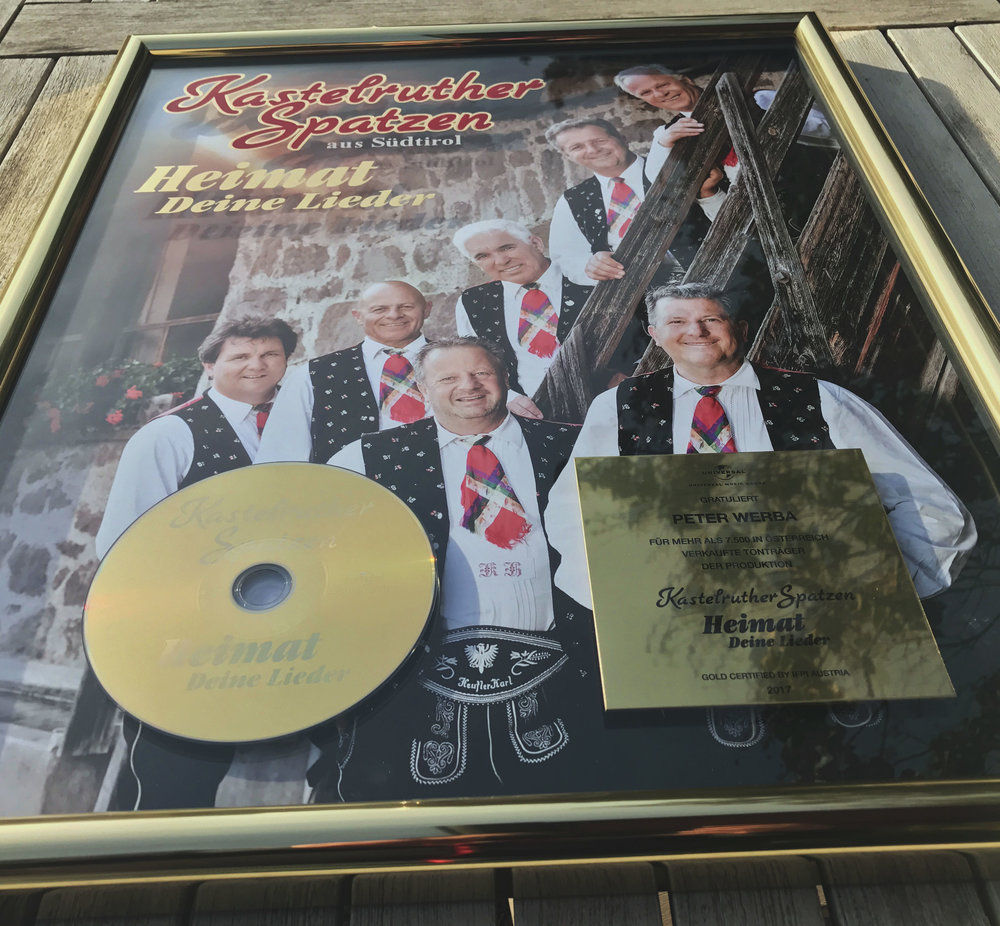 Peter's first Austrian gold record as a producer.