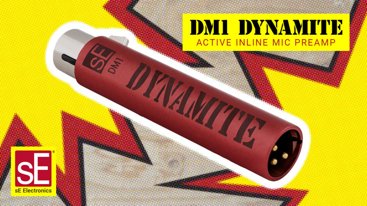 sE Electronics DM1 Dynamite Active Microphone Preamplifier