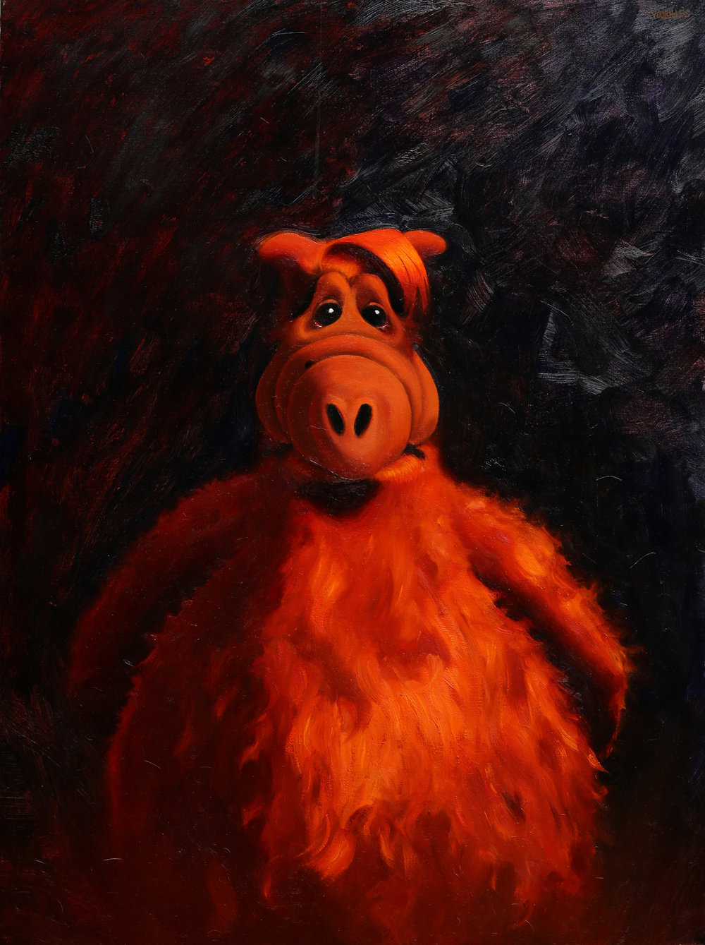 Sad Alf  oil on canvas  40 x 30 inches