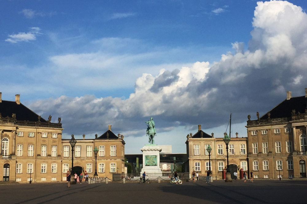Riding by Amalienborg