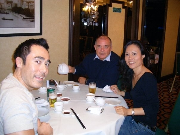 Yours truly, Pyotr, and my colleague Yuko Hughes in Beijing in 2008.