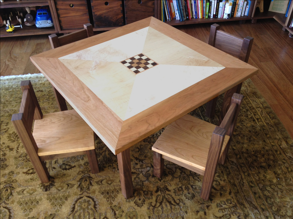 Child-sized table and chairs