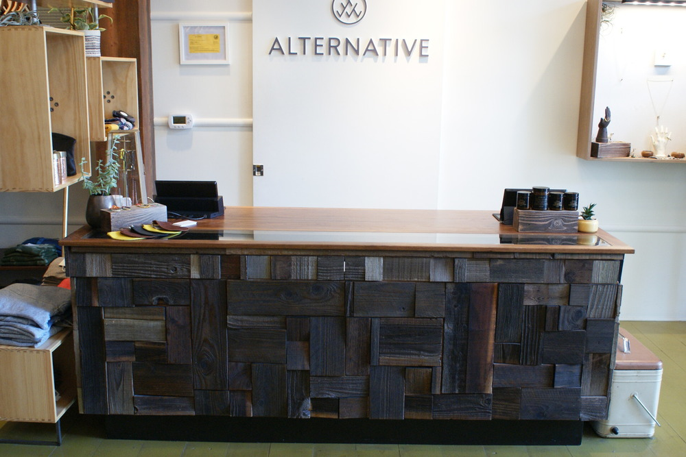 Alternative Apparel Display Case and Counter