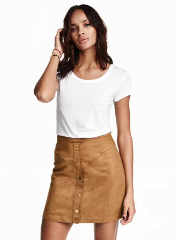 Imitation Suede Skirt $34.99