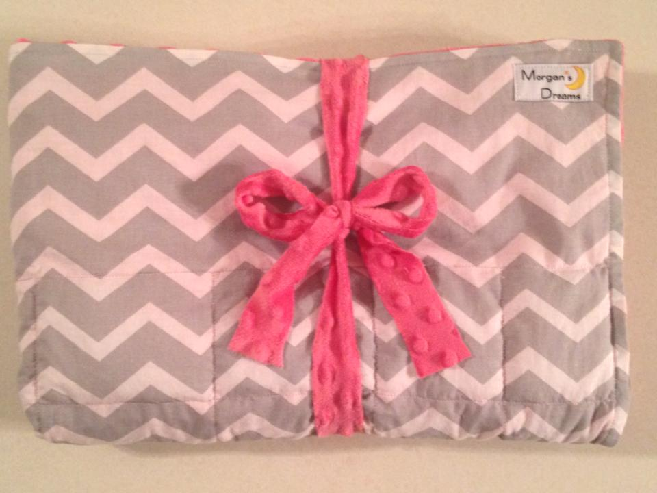 Grey chevron with Morning glory pink.jpg