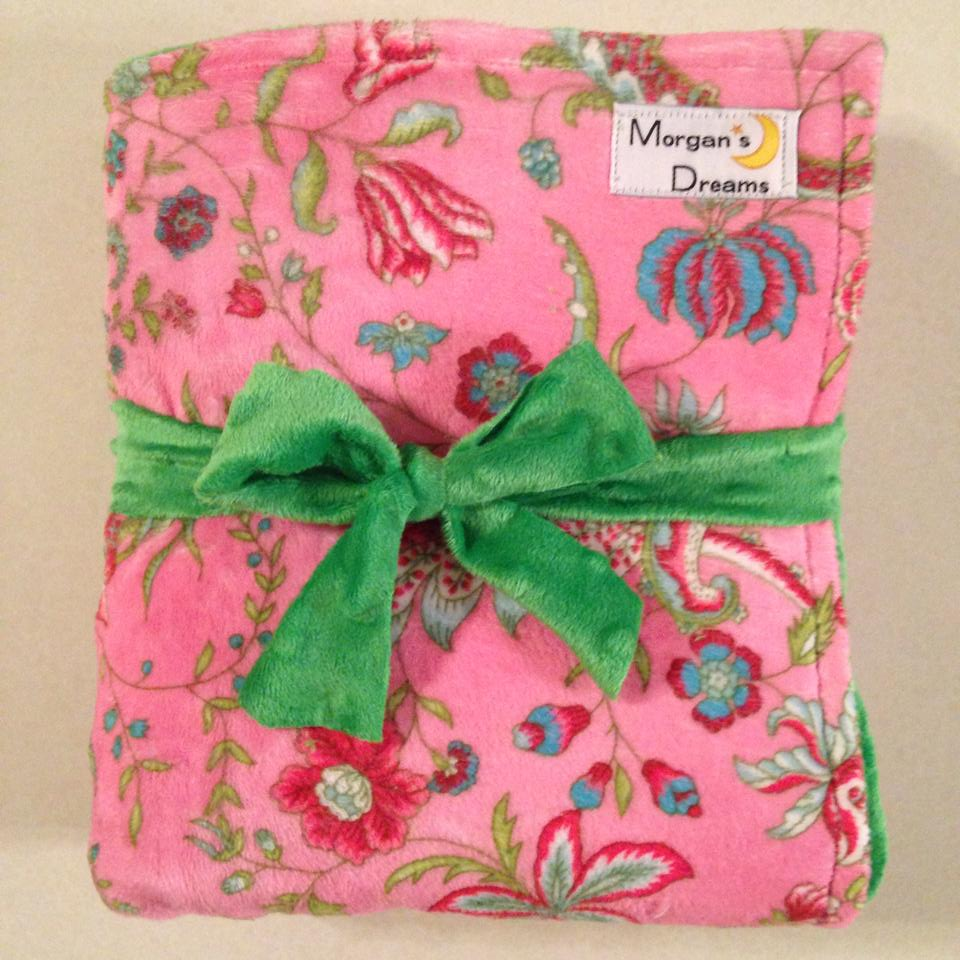 Pink green floral minky.jpg