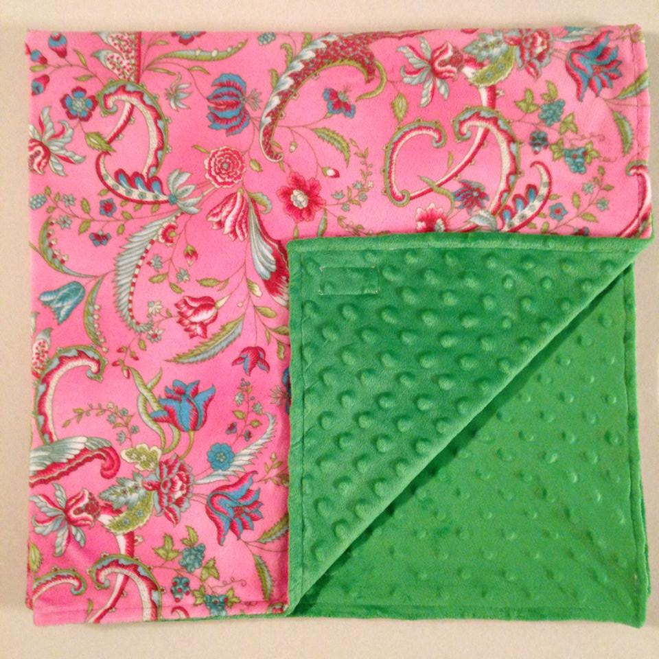 Pink green minky with green.jpg