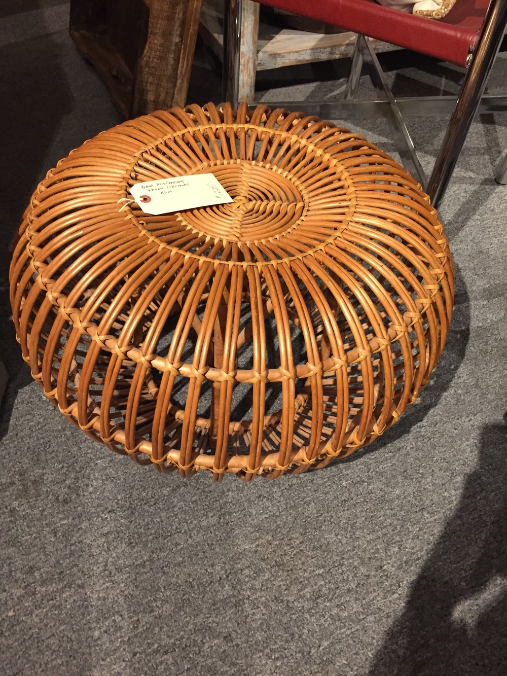 I'm seeing these rattan ottomans everywhere these days - here's a vintage one they had at Ramble. Wishing I had a place to use this!