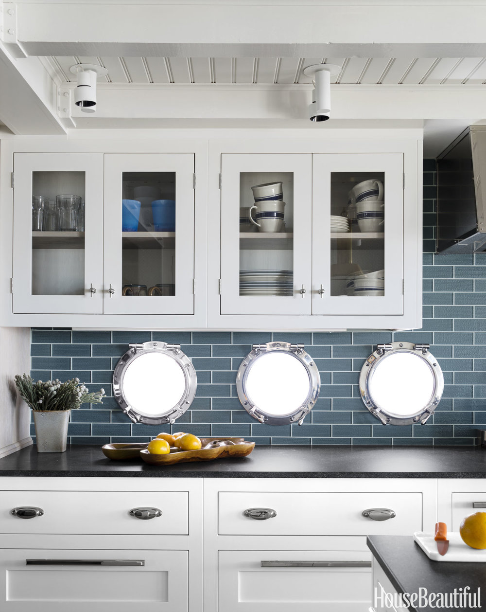 How awesome are these porthole windows in the kitchen?