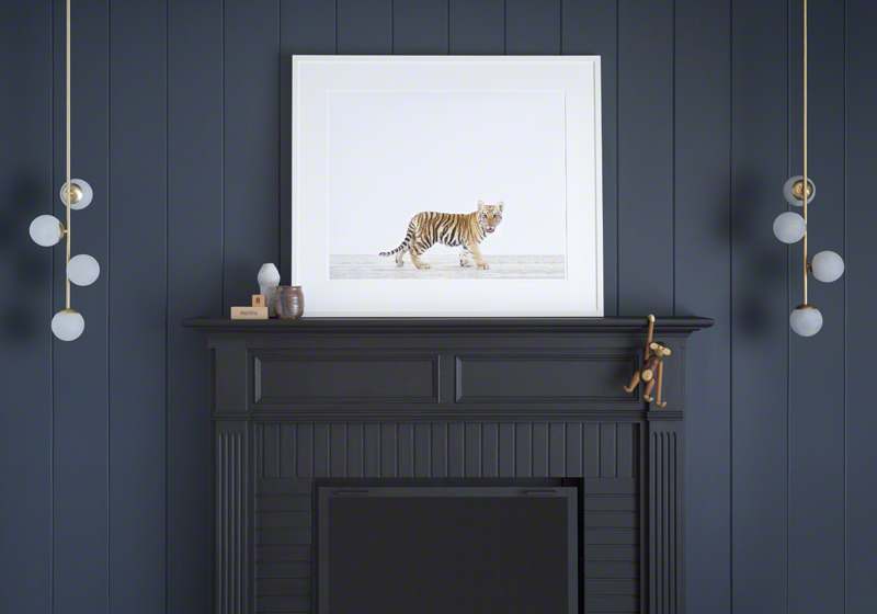 You can see how they'd also work in non-nursery spaces with this lion over a fireplace.