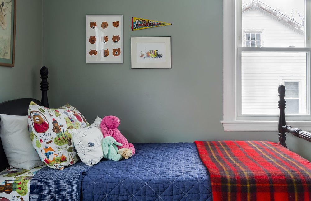I Love Using Color, Especially In Kids Rooms So I Painted The Walls A Blue  Green (Flora By Benjamin Moore) And Added Accent Colors Of Navy Blue,  Black, ...
