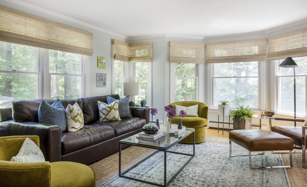 Rachel Dunham Design: A Bold & Eclectic Living Room