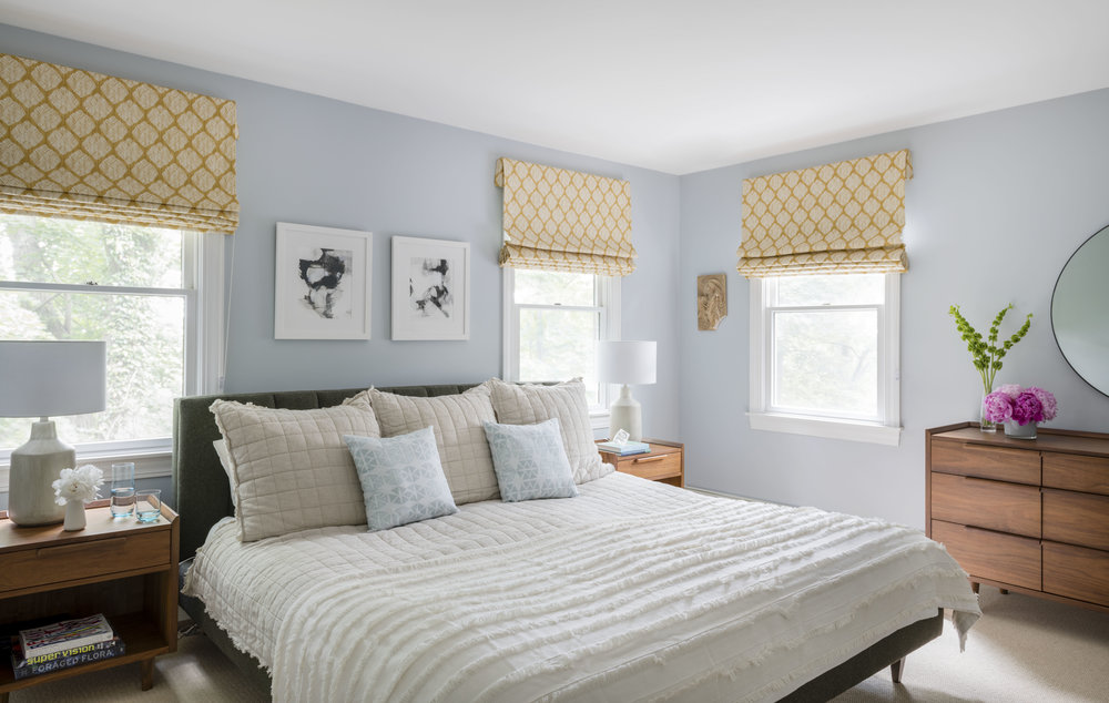 Rachel Dunham Design: The Serene and Colorful Master Bedroom