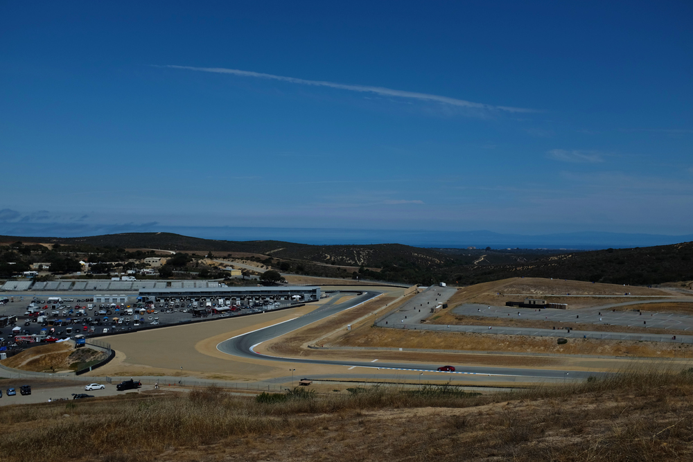 Turn 10 of the world famous 2.238 mile Laguna Seca Raceway