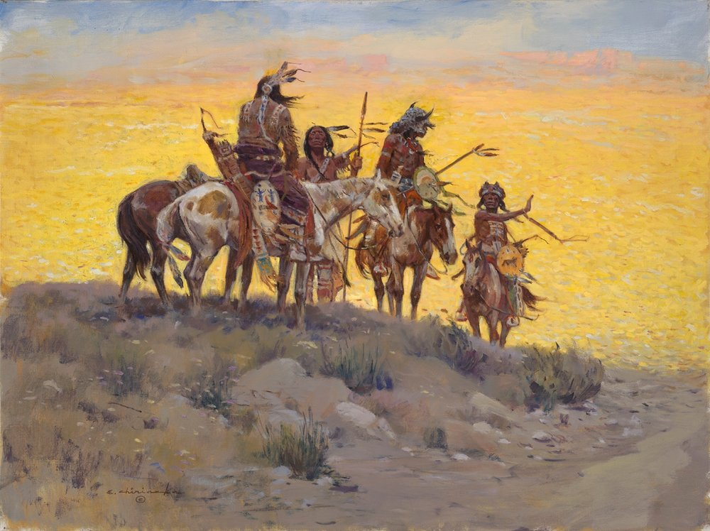 Scouts along the Prairie
