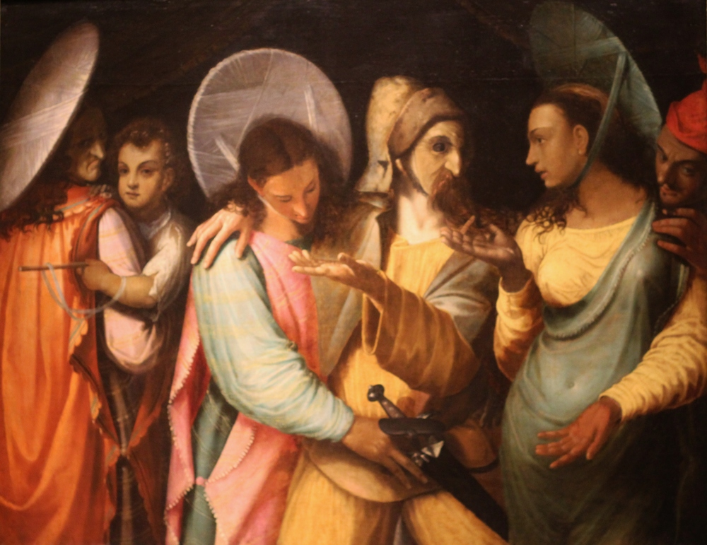 Painting attributed to Nicolas Bollery title'The Actors' from around 1600. This guy meant business. 6 faces and 6 hands in one painting with a linear composition.