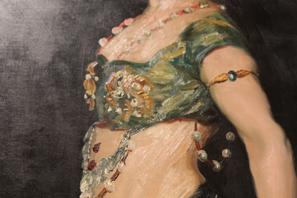Detail from Ash Can Painter Robert Henri's 'Salome,' 1909.