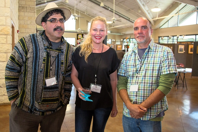 With award winners Robert Wilkins and Patrick Saunders. Patrick and his wife live in an airstream and travel the country following the Plein Air painting circuit. You can follow them on Instagram @pleinairstreaming.  Photo credit: Debbie Slangal