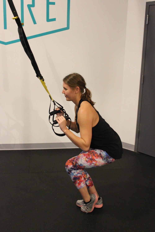 Single Leg Squat with TRX